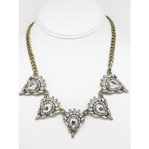 BaubleBar Rhinestone Antique Gold Necklace